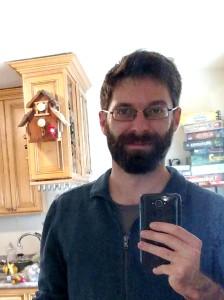 sebastian benthall selfie with birdhouse